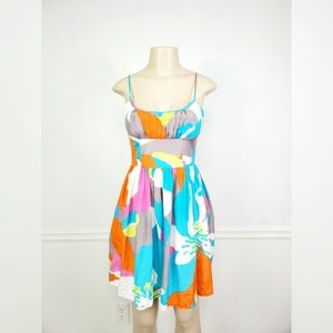 Trina Turk Multicolored Fit and Flare Dress